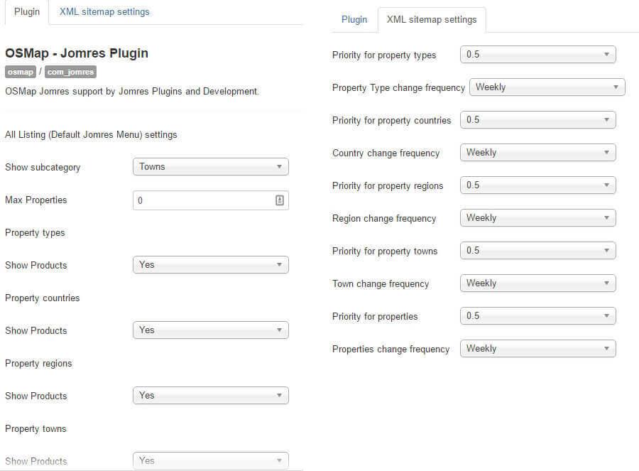 osmap for jomres jomres plugins development